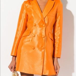 Juliet shiny blazer dress